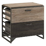 Refinery 2 Drawer Lateral File Cabinet in Rustic Gray - Engineered Wood - RFF132RG-03