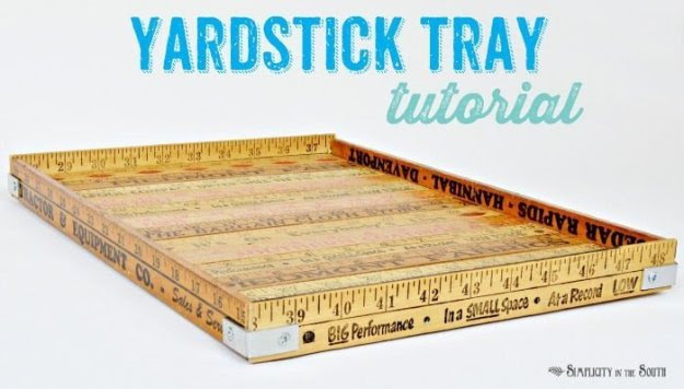Instructions for making a yardstick tray