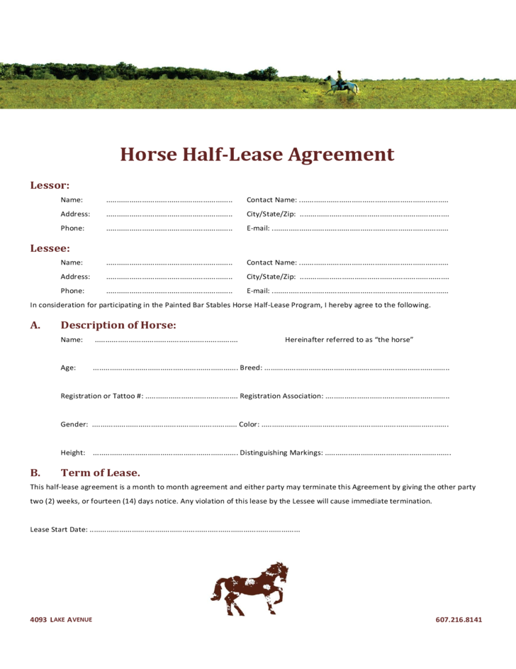 horse half lease agreement l1