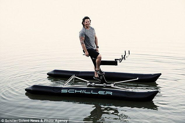 Water Way To Commute Human Powered Boat Bike Lets Cyclists Travel
