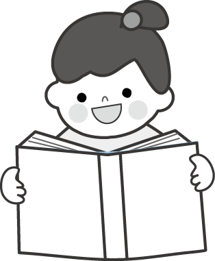 本の読み聞かせのイラスト無料イラストフリー素材