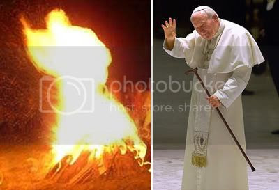 Pope on Fire