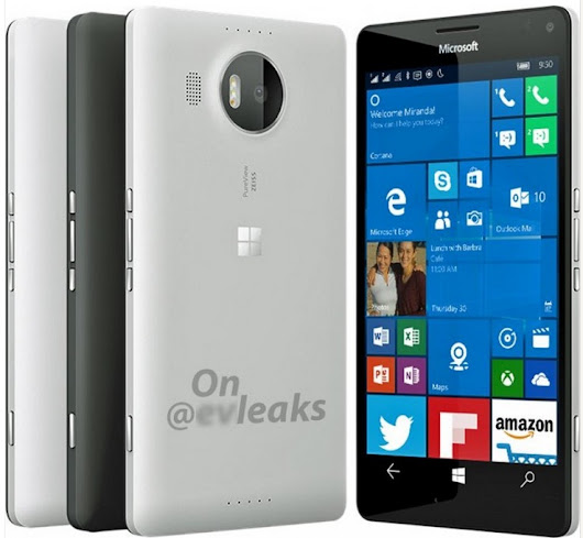 Microsoft Lumia 950 XL in white image leaked: price, features and release date