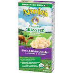 Annies Organic Macaroni & Cheese, Grass Fed, Shells & White Cheddar - 6 oz