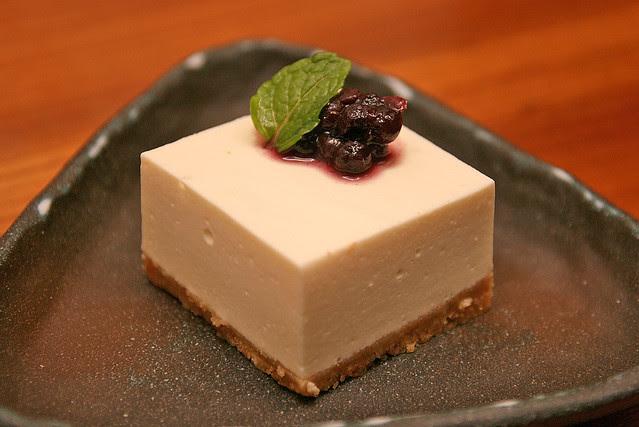 Sun's signature tofu cheesecake