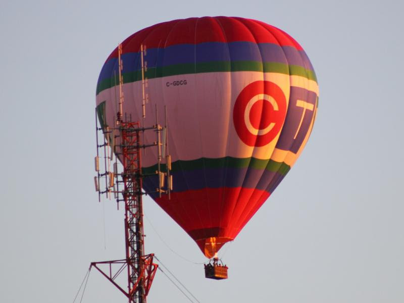CTV balloon and tower