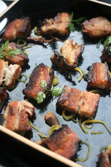 Kurobuta pork belly by Francois Mermilliod of Absinthe