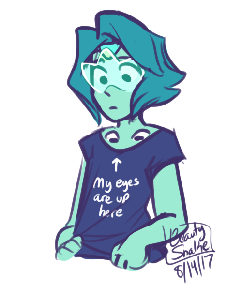 "Anonymous said: Turquoise needs a ""my eyes are up HERE shirt"" Answer:"