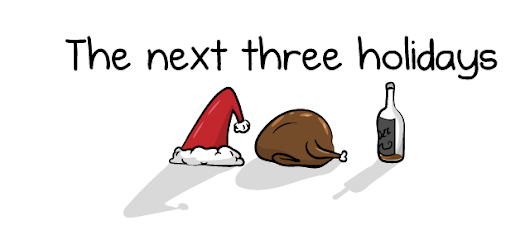 The next three holidays - The Oatmeal