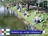 Torneio reúne 109 pescadores no lago do parque Jayme Ferragut, em Vinhedo