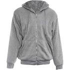 Alta Men's Hoodie Zip Up Jacket Sherpa Lined Fleece Sweater Light Grey