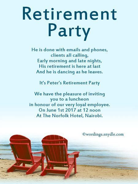 Retirement Party Invitation Wording Ideas and Samples