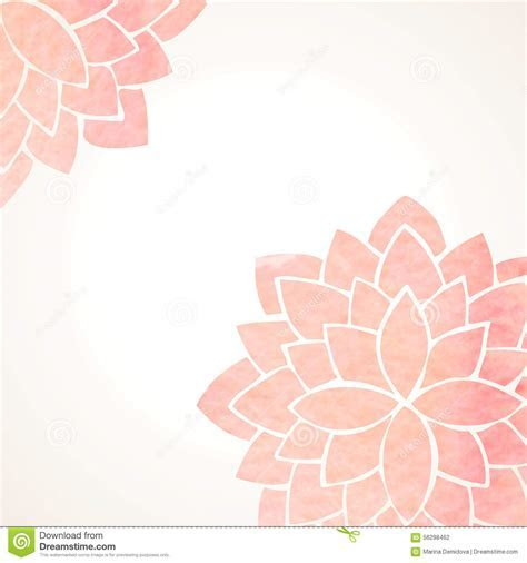 Watercolor Pink Floral Background Stock Vector   Image