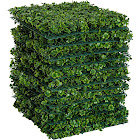 "Outsunny 12 Piece 20""x 20"" Artificial Boxwood Hedge Mat Panels Outdoor Patio - Clover"