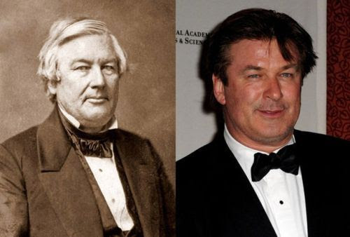 President Millard Fillmore and Alec Baldwin