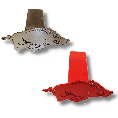 Arkansas Razorbacks Running Razorback Logo Trailer Hitch Cover