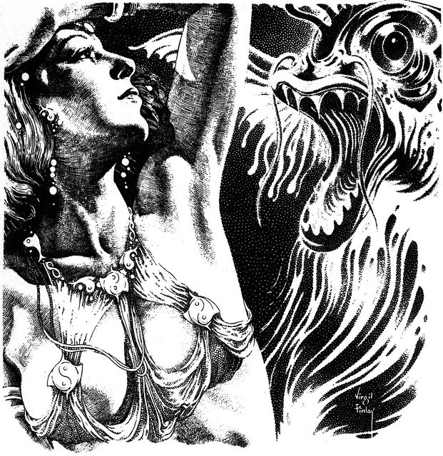 Virgil Finlay - 73, 1952 Fantastic Science Quarterly,