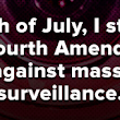Dear NSA, we threw you a 4th of July party and it's HUGE...