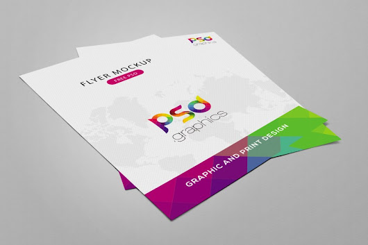 Flyer Mockup Free PSD Graphics | PSD Graphics