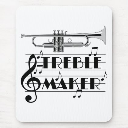 Trumpet Player Treble Maker Mouse Pad