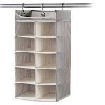Neatfreak Harmony Twill Collection Hanging 2 x 5 Cubby Closet Organizer with Top Shelf