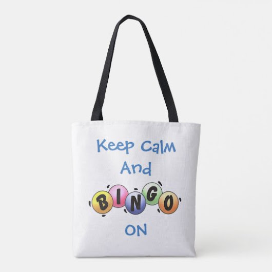 Keep Calm and Bingo On *Personalized* Tote Bag