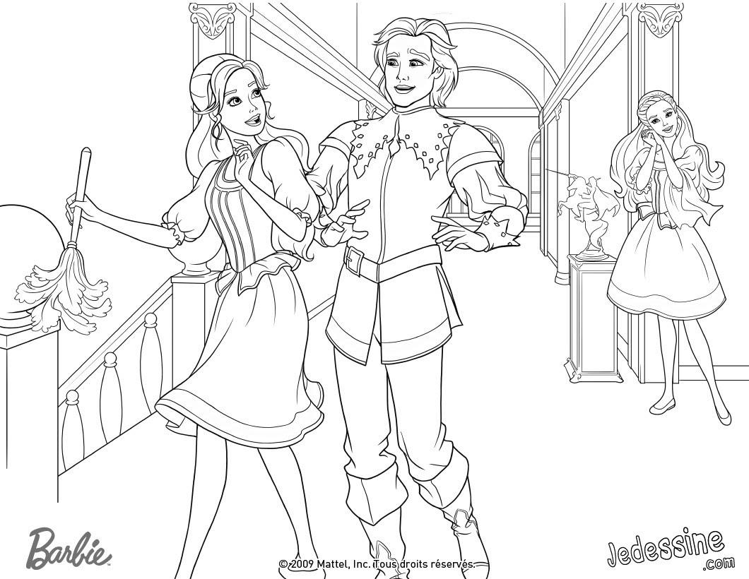 Coloriage Barbie Et son Prince