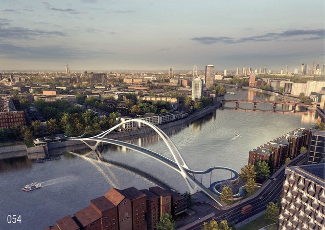 The Craziest Designs For London's Newest Pedestrian Bridge