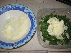 Adding the beaten butter