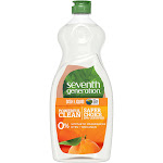 Seventh Generation Natural Dish Liquid, Lemongrass & Clementine Zest - 25 fl oz bottle