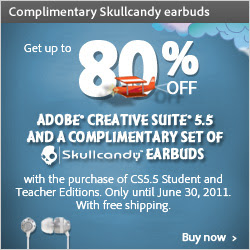 Free shipping and Skullcandy earbuds with CS5.5