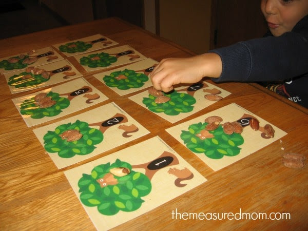 fall counting mats 1 the measured mom Counting 1 10: A Free Fall Printable for Preschool