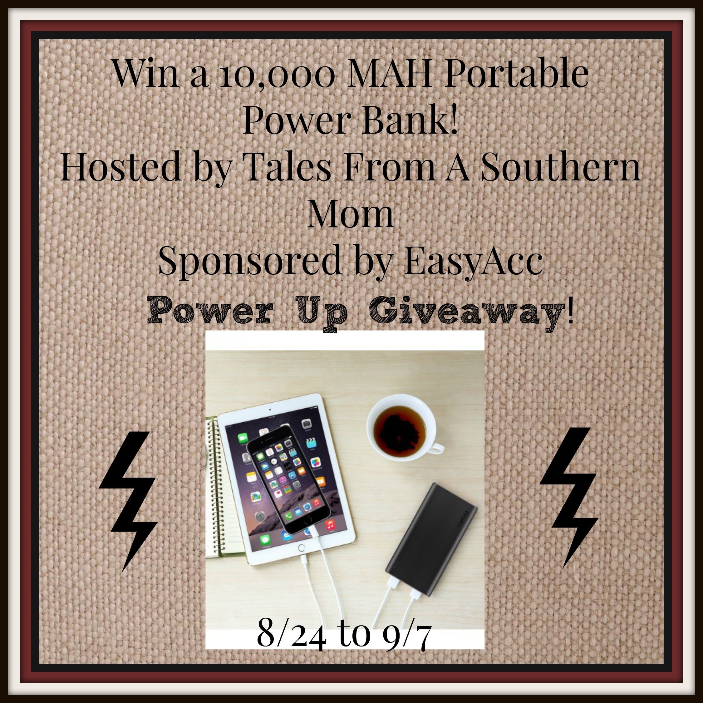 Enter the EasyAcc Phone and Device Charger Giveaway. Ends 9/7