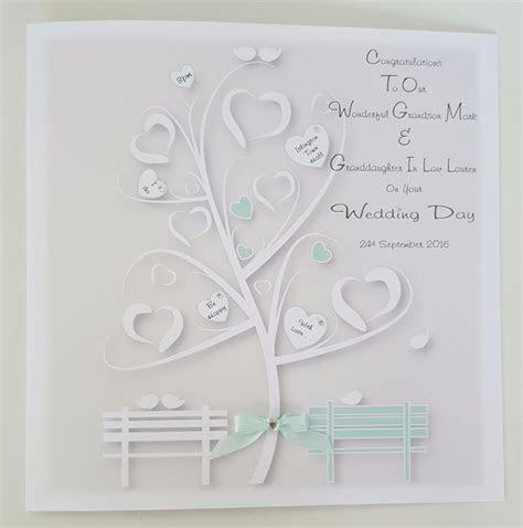 Personalised 8x8 Wedding Card Gift Wallet Grandson
