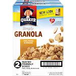 Quaker Simply Granola, Oats, Honey & Almonds, 28 oz Boxes, 2 Count