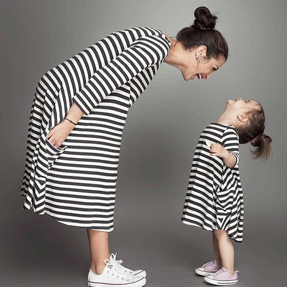 "most adorable ""mommy and me"" outfit in the street"