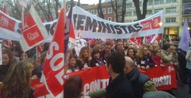 Imagen de la mabnifestación en Madrid. | F.G.