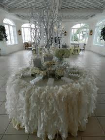 I have officially died and gone to escort table heaven