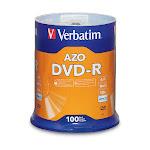 Verbatim DVD-R Disc 4.7GB 16X Branded - 100 Disc Spindle