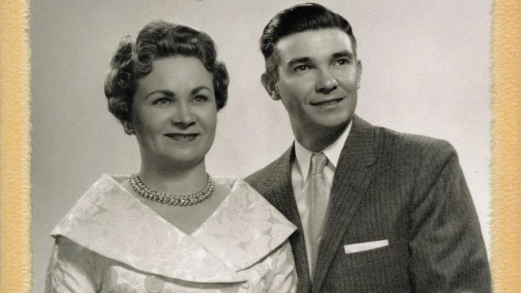 Nelly Bridgeman and late husband Russell
