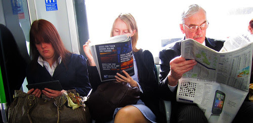 Three ages of Reading on the Tube