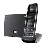 Gigaset C530 IP Expandable Cordless Phone / VoIP Phone - Black/Silver