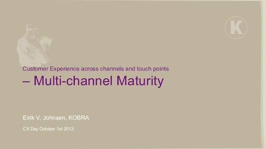 Customer Experience in Multichannel Context - Multi Channel Maturity