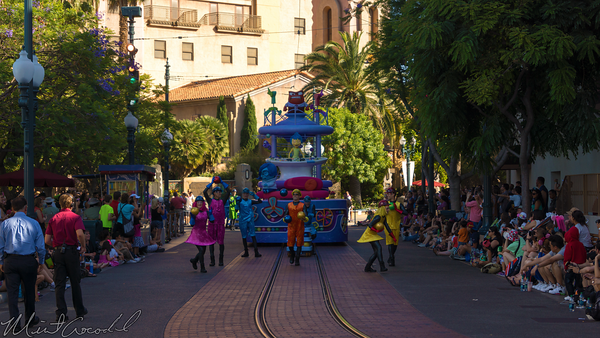 Disneyland Resort, Disneyland60, Disney California Adventure, Hollywood, Land, Inside, Out, Pre, Parade, Float, Joy, Disgust, Anger, Sadness, Fear
