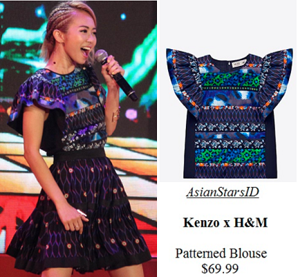 Mediacorp Stars Ave - Bonnie Loo: Kenzo x H&M Patterned Blouse $69.99 - AsianStarsID