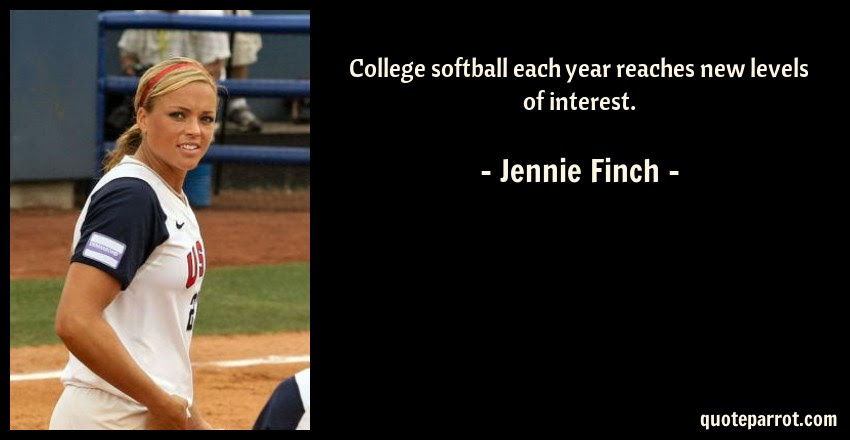 College Softball Each Year Reaches New Levels Of Intere By Jennie