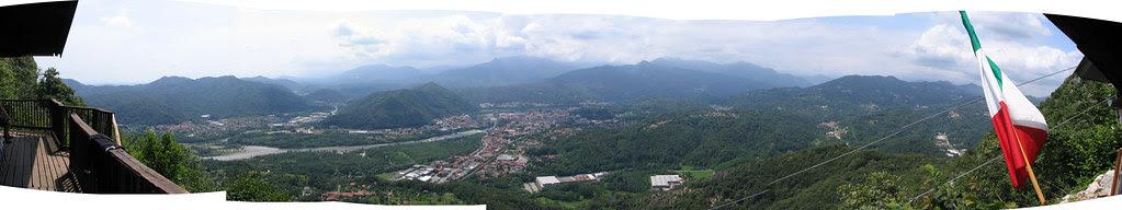 Panoramica dal Rifugio del gasb