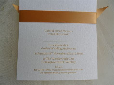 60p each 50th Golden Wedding Anniversary Invitations