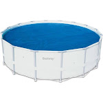 Bestway Floating Above Ground Pool Solar Heat Cover, Blue, 14'