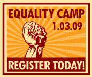 Equality Camp blog badge